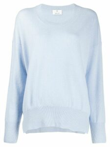 Allude round neck cashmere jumper - Blue