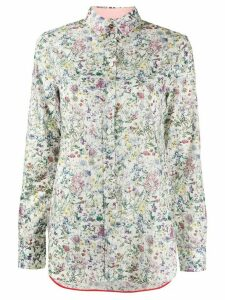Paul Smith floral fitted shirt - White