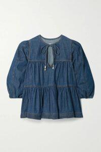 Stella McCartney - Asymmetric Cutout Striped Knitted Sweater - Blue