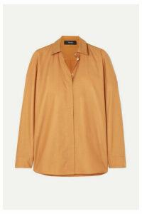 Theory - Cotton-twill Shirt - Orange