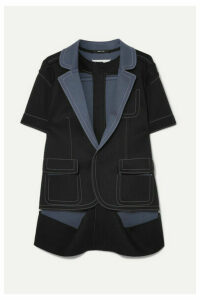Maison Margiela - Two-tone Cutout Bonded Jersey Jacket - Black