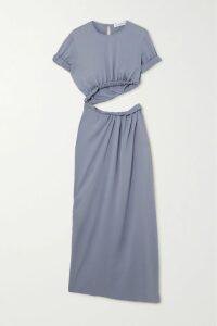 Ulla Johnson - Zoya Cutout Floral-print Cotton And Silk-blend Maxi Dress - Fuchsia