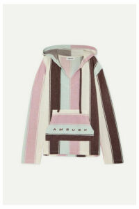AMBUSH® - Baja Striped Cotton-blend Hoodie - Pink