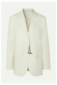 Wales Bonner - Oversized Embellished Wool-twill Jacket - Ivory