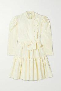 AMIRI - Wrap-effect Ombré Plaid Cotton-flannel Shirt - Pink