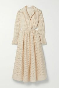 Roland Mouret - Tayrona Checked Wool And Mohair-blend Top - Navy