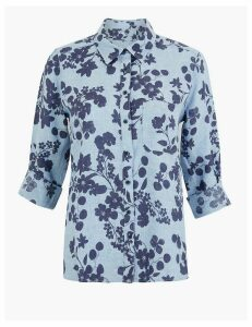 M&S Collection Linen Floral Print Shirt