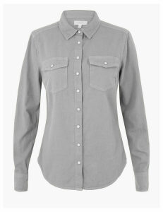 Per Una Pure Cotton Denim Shirt