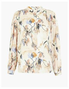 Per Una Printed High Neck Blouse