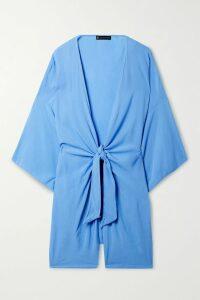 Deveaux - Chore Belted Wool Jacket - Navy