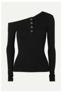 The Line By K - Harley Off-the-shoulder Ribbed-jersey Top - Black