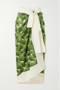 Charo Ruiz - Frida Crocheted Lace-paneled Cotton-blend Kaftan - Black