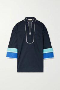 Cefinn - Belted Voile Midi Dress - Red