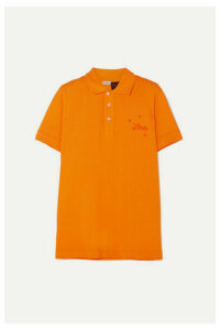 Loewe - + Paula's Ibiza Embroidered Cotton-piqué Polo Shirt - Orange