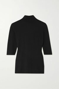Orseund Iris - Night Out Open-back Ruched Satin Blouse - Navy