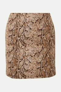 Reformation - Oak Snake-print Stretch-jersey Mini Skirt - Snake print