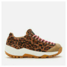Diemme Women's Movida Haircalf Running Style Trainers - Leopard