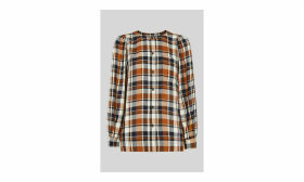 Check Puff Sleeve Shirt