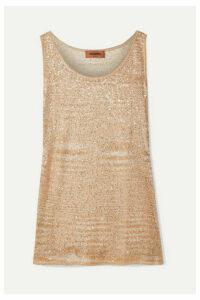 Missoni - Sequined Crochet-knit Tank - Beige
