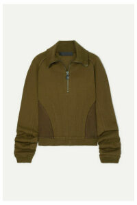 Haider Ackermann - Camionneur Zip-detailed Paneled Stretch-cotton Sweatshirt - Brown