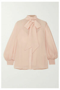 Givenchy - Pussy-bow Silk-crepon Blouse - Beige