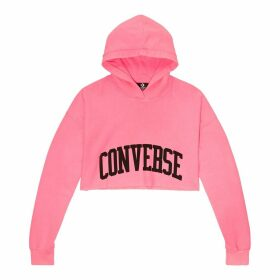 Women's Hooded Cropped Fleece Sweatshirt