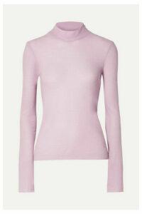 Nanushka - Alana Cotton-jersey Turtleneck Top - Lavender