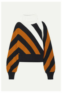Monse - Striped Wool Turtleneck Sweater - Camel
