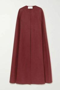 Valentino - Wool And Cashmere-blend Cape - Red