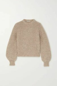 Reformation - Tatum Ribbed Alpaca-blend Sweater - Beige