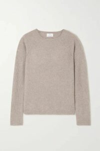 Allude - Ribbed Cashmere Sweater - Gray