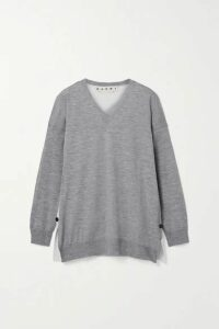Marni - Paneled Wool Sweater - Gray