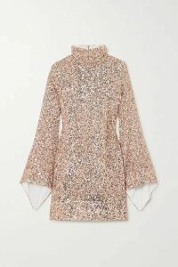 Halpern - Draped Sequined Georgette Mini Dress - Pink