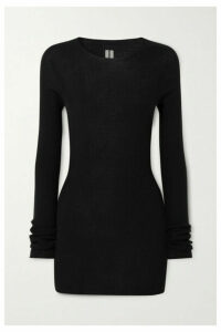Rick Owens - Maglia Ribbed Wool Top - Black