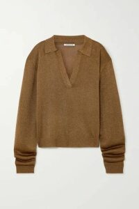 Georgia Alice - Metallic Knitted Sweater - Light brown