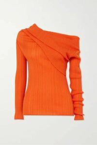 Nina Ricci - Off-the-shoulder Draped Cotton-blend Crepon Top - Orange