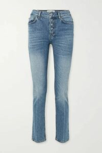 Reformation - Liza High-rise Straight-leg Jeans - Blue