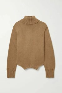 Monse - Upside Down Oversized Cutout Merino Wool Turtleneck Sweater - Sand