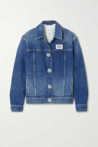 Burberry - Appliquéd Bead-embellished Denim Jacket - Blue