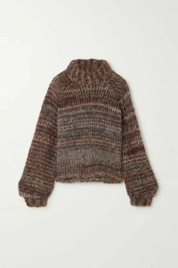 The Range - Fog Knitted Turtleneck Sweater - Brown