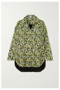 Loewe - Printed Silk-twill And Crepe Shirt - Yellow