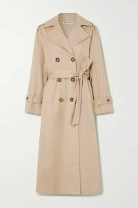Reformation - Holland Cotton-blend Twill Trench Coat - Camel