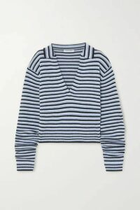Georgia Alice - Oversized Striped Knitted Sweater - Blue