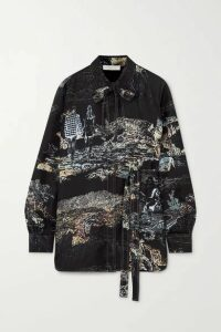 Chloé - Printed Silk-twill Blouse - Black