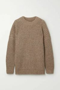Lauren Manoogian - Fisherwoman Ribbed Alpaca And Organic Cotton-blend Sweater - Camel