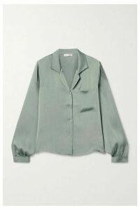 Anine Bing - Lilah Silk Crepe De Chine Shirt - Gray