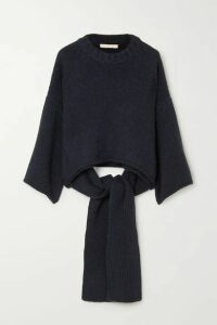 Brock Collection - Tie-detailed Cashmere Sweater - Blue