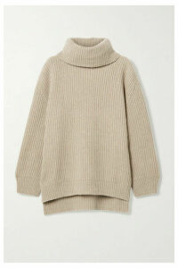 Anine Bing - Olivia Ribbed Cashmere And Wool-blend Sweater - Beige