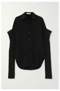 JW Anderson - Draped Silk Crepe De Chine Shirt - Black