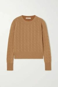 &Daughter - + Net Sustain Nora Cable-knit Cashmere Sweater - Camel
